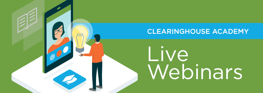 Clearinghouse Academy Webinars Header Art