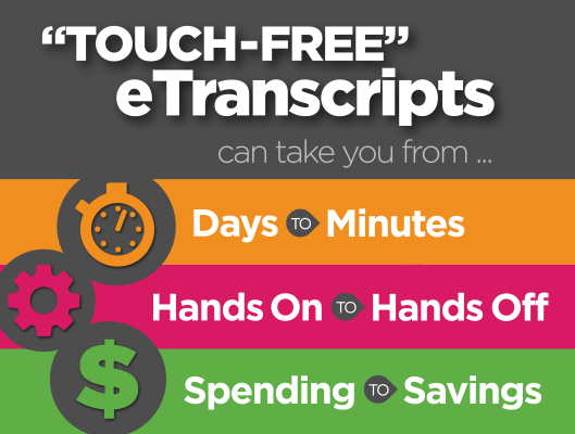 Touch-free eTranscripts