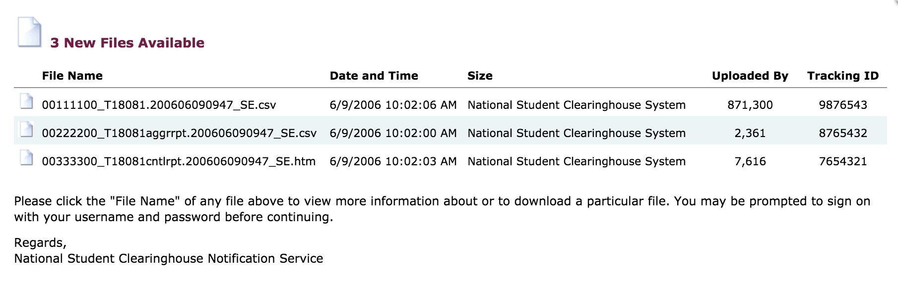 using studenttracker national student clearinghouse