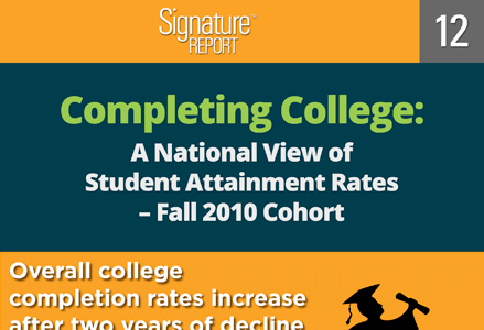 Completing College: A National View of Student Attainment Rates – Fall 2010 Cohort